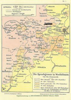 Mapa německy mluvících vesnic